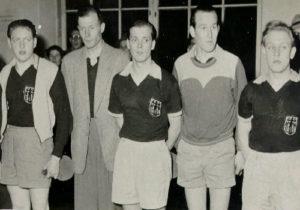 v.l. Wolfgang Steinbach, Gerd Topp, Ernst Junker, Horst Ilberg, Paul-Hermann Becker
